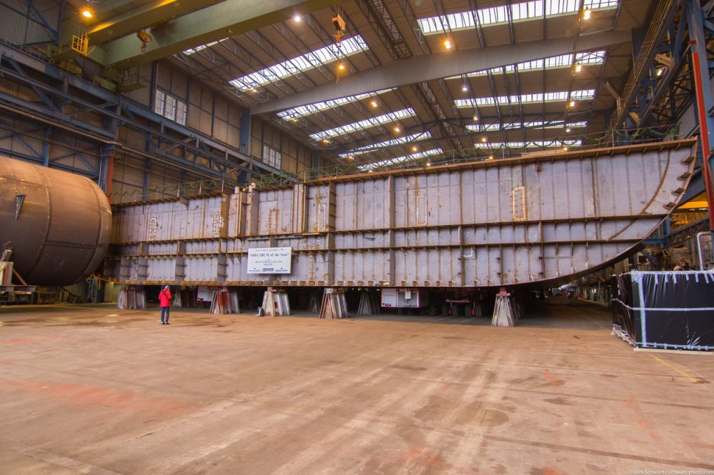 Kiellegung Spectrum of the Seas auf der Neptun Werft in Rostock