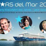 Die Kreuzfahrtinitiative wird ihre Konzertreisen Stars del Mar auf Kreuzfahrtschiffen auch in 2019 fortsetzen. Nach dem großen Buchungserfolg – die fünftägige Musik- und Event-Kreuzfahrt in 2018 auf der Mein Schiff 6 ist nahezu ausgebucht – sind die Planungen der Interessengemeinschaft von Reisebüros, die sich auf Kreuzfahrten spezialisiert haben, für die Stars del Mar 2019 bereits in vollem Gang.