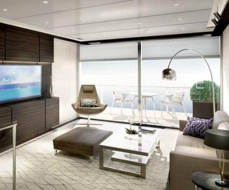 Geräumige, luxuriös ausgestattete Kabinen und Suiten sollen Maßstäbe setzen