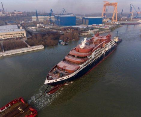 Die erste Bauphase für das erste der vier neuen Expeditionsschiffe der Ponant Explorer-Klasse, die Le Lapérouse, ist abgeschlossen.