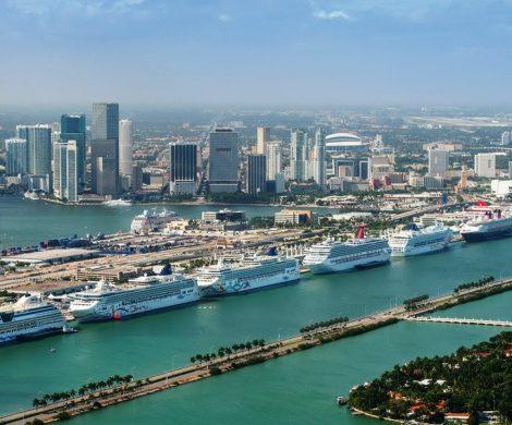 Drei Häfen in Florida liegen an der Spitze der größten Kreuzfahrthäfen. Weltweit größter Kreuzfahrthafen ist Miami. Mit gut 5,3 Millionen Passagieren wurde im abgelaufenen Geschäftsjahr ein Rekord aufgestellt