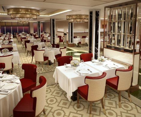 Das renovierte Queens Grill Restaurant ....