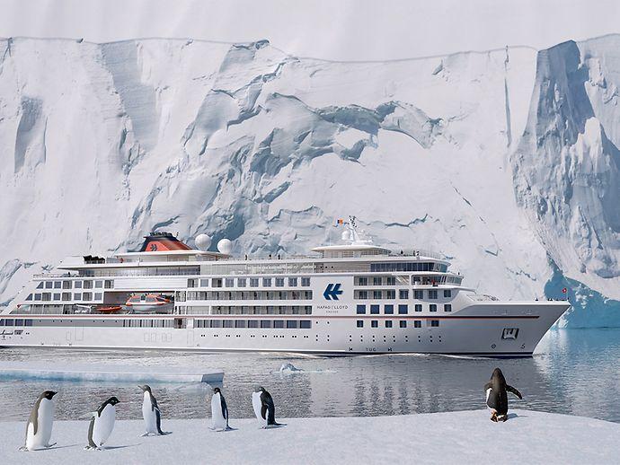Der erste der beiden Neubauten von Hapag-Lloyd Cruises wird am 12. April 2019 vor der Kulisse Hamburgs auf den Namen HANSEATIC nature getauft. Ihre 13-tägige Jungfernfahrt führt die HANSEATIC nature vom 13. – 26. April 2019 von Hamburg, London, die Kanalinseln, Bordeaux über den Tejo bis nach Lissabon.