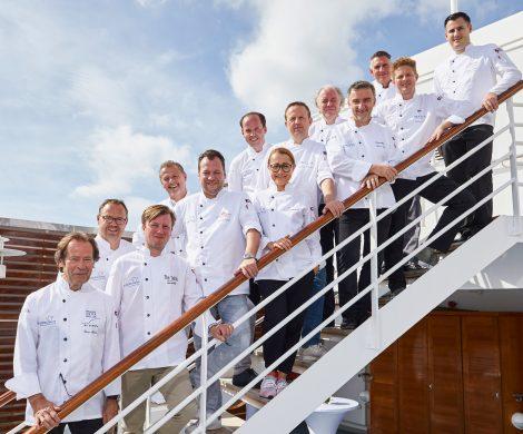 Mehr als 30 Akteure der Spitzengastronomie waren in diesem Jahr bei Hapag-Lloyds Gourmet-Event Europas Beste auf der Europa zusammen