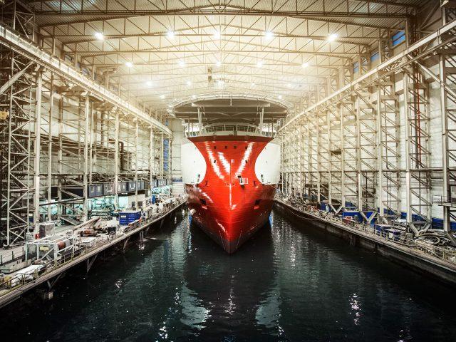 """Die von der Fährreederei Color Line bei der Ulstein Werft georderte Hybridfähre hat auf der Messe """"Nor-Shipping"""" den """"Next Generations Award"""" gewonnen."""