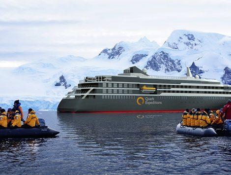 Quark Expeditions lässt bei der kroatischen Werft Brodosplit ein neues Expeditionsschiff für die Polargebiete für bis zu 200 Passagiere bauen.