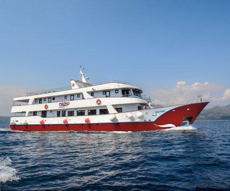 Der Neuzugang MS Maliante fährt auf der Route zwischen Zadar und Dubrovnik