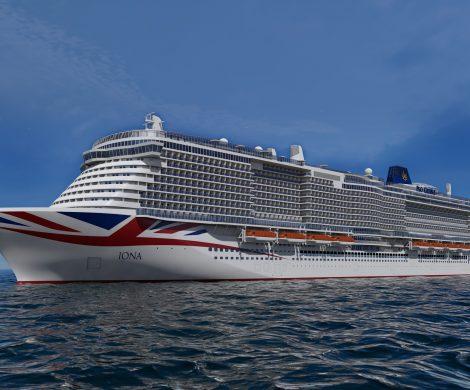 Das künftige Flaggschiff von P&O Cruises, die Iona, wird auf der Jungfernfahrt im Mai 2020 die Fjord-Landschaften im hohen Norden Europas ansteuern.