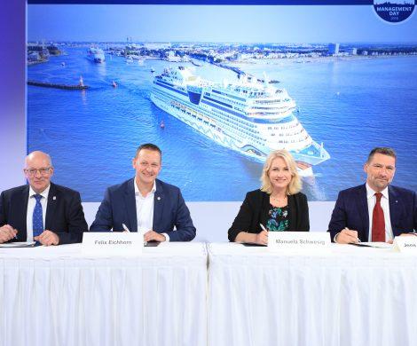 Im Hafen Rostock soll bis 2020 eine Anlage für Landstrom für Kreuzfahrtschiffe errichtet werden. Die Kosten liegen bei zehn Millionen Euro.