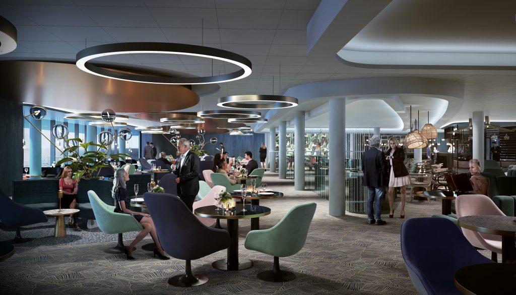 Das Team um Designer Werner Aisslinger gestaltet auf der neuen MeinSchiff 2 von TUI Cruises die Schaubar und das Tag&Nacht Bistro.