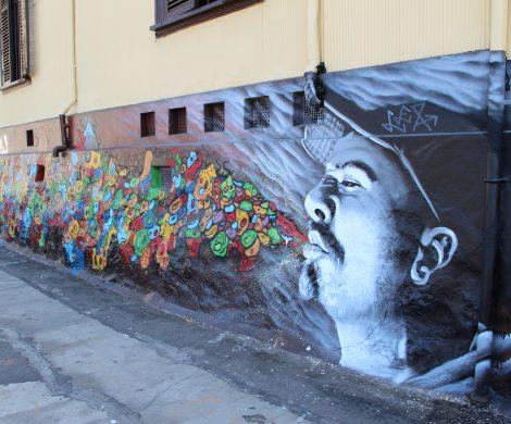 Reportage über die Graffittis in Valparaiso, die chilenische Hafenstadt ist mit Weltklasse-Straßenkunst bedeckt und eine Augenweide