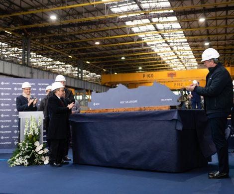 Auf der Fincantieri Werft im italienischen Monfalcone wurde mit dem Stahlschnitt der Bau der MSC Seashore begonnen, erstes Schiff der Seaside EVO Klasse