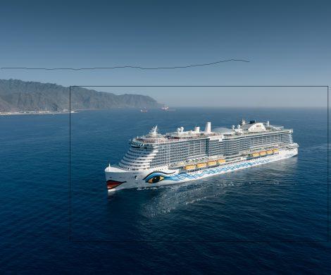 AIDA Dreifachpremiere in Teneriffa: Weihnachtsreise AIDAnova, Übernahme Terminal und ein Kreuzfahrtschiff wird mit Flüssigerdgas auf den Kanaren betankt.