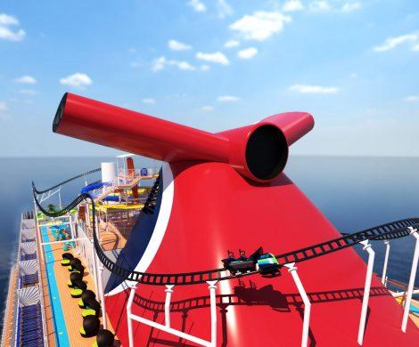 Die weltweit erste Achterbahn auf dem Meer mit rund 244 Meter Länge wird auf dem neuen Carnival-Schiff Mardi Gras errichtet.