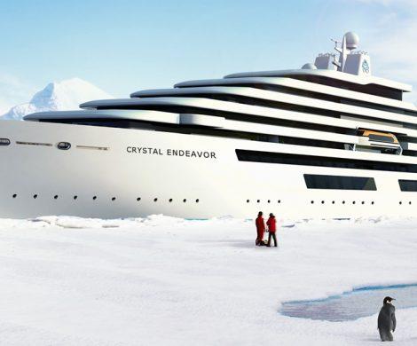 Die Schiffe der Endeavor-Klasse sind die weltgrößten Megayachten mit Eisklasse. Bis zu 200 Passagiere reisen mit ihnen in die Tropen und in Polarregionen.