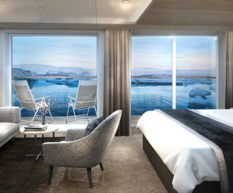 """Hurtigruten lässt die Finnmarken zu einem """"Premium-Expeditionsschiff"""" umbauen. Nach der Generalüberholung im ersten Quartal 2020 stehen zunächst weiterhin Fahrten auf der klassischen Postschiffroute im Fahrplan, ab 2021 unternimmt die Finnmarken dann Expeditionsseereisen zu ausgewählten Zielen entlang der norwegischen Küste."""