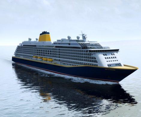 Die Spirit of Adventure, der zweite Neubau für Saga Cruises, nimmt mit dem Brennstart erste Formen bei der Meyer Werft an