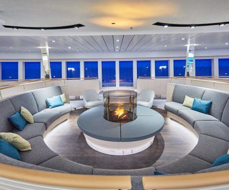 Observation Lounge: 180 Grad-Blick, windgeschützt und gemütlich