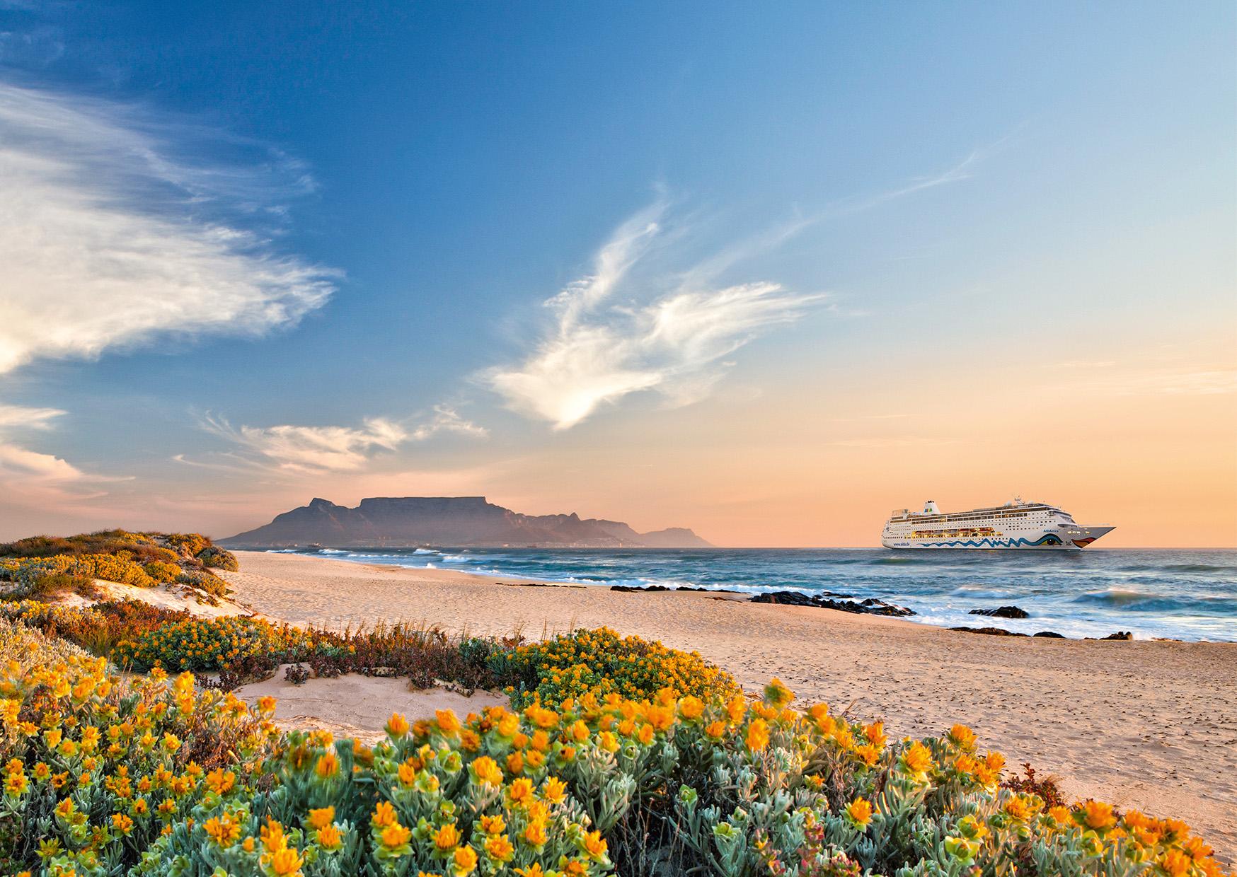 AIDA-Gäste können sich in der Wintersaison 2020/2021 auf faszinierende Momente in Südamerika freuen, auf Sonne, Südsee und Erlebnisse in Südafrika.