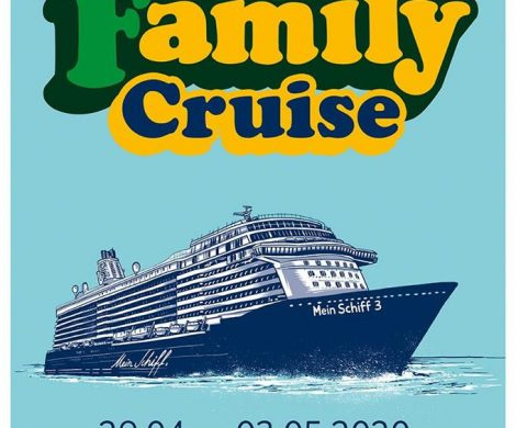 """Die 4-tägige The Kelly Family Cruise mit Konzerten auf drei Bühnen und in weiteren Locations geht vom 29. April bis zum 3. Mai 2020"""" von Bremerhaven nach Kiel."""