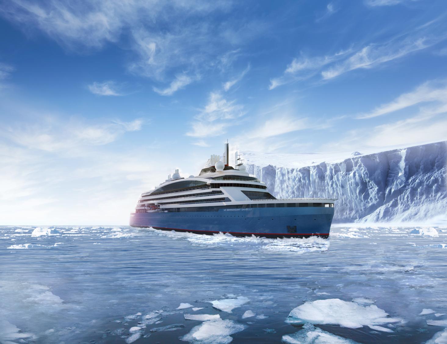 Ab Mai 2021 bringt dieLe Commandant-Charcotder Kreuzfahrtreederei PONANT ihre Gäste ins Herz des Eises - zum geografischen Nordpol