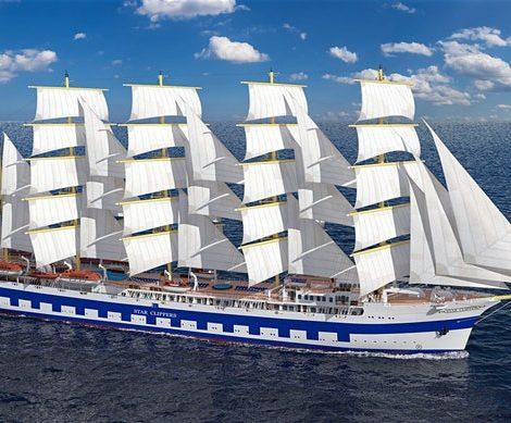 Die Flying Clipper ist fertig, aber wird von der Reederei Star Clipper bislang nicht abgenommen. Der Bau verzögerte sich um 18 Monate, nun gibt es Streit