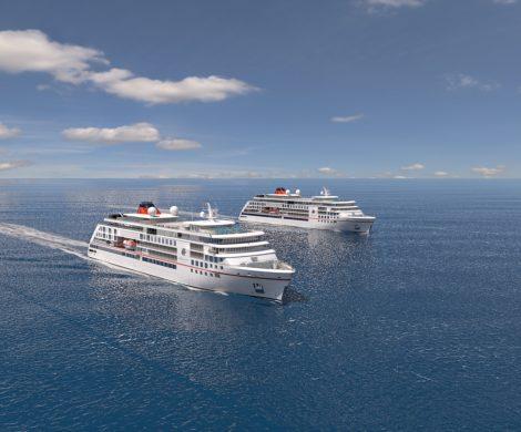 Großes Hallo im Hafen von Lissabon: MS EUROPA, MS EUROPA 2 und die HANSEATIC inspiration treffen sich am Lisbon Cruise Terminal