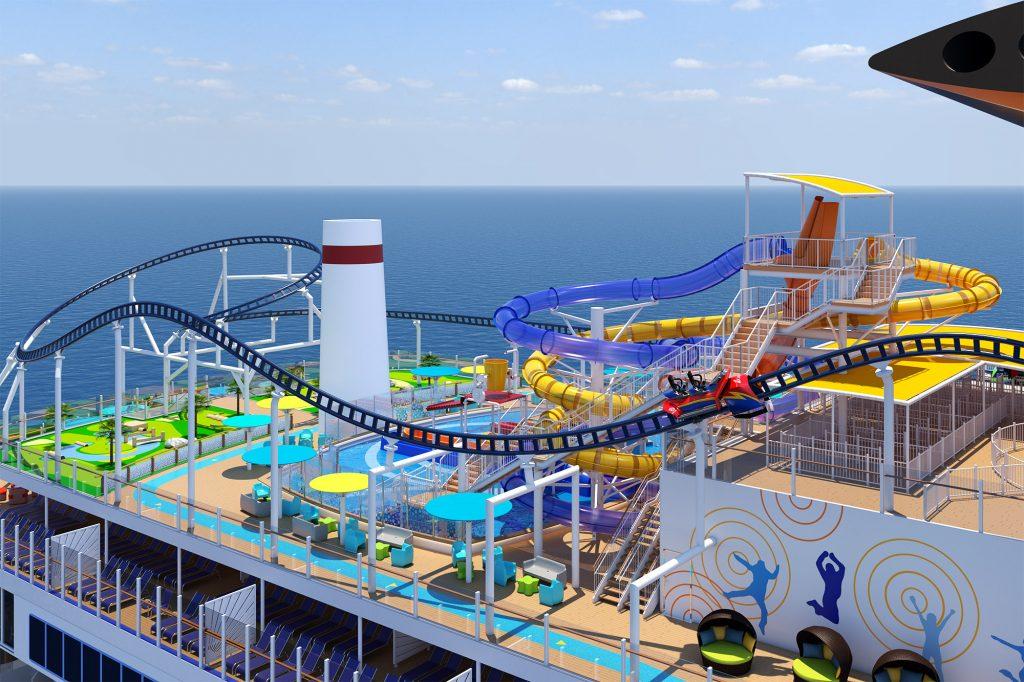 """Die erste Achterbahn auf See ist """"Made in Germany"""" und wird im Sommer des nächsten Jahres an Bord der Mardi Gras von Carnival ihre Premiere feiern."""