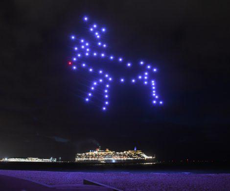 Die britische Traditionsreederei Cunard, die im nächsten Jahr ihr 180-jähriges Bestehen feiert, hat in Australien ein spektakuläres Ballett in großer Höhe veranstaltet.