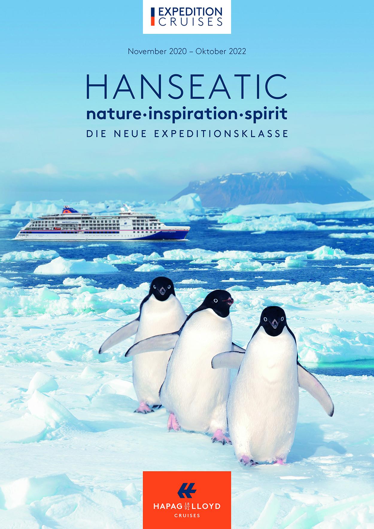 Mehr als 70 neue Expeditionen präsentiert Hapag-Lloyd Cruises für die HANSEATIC nature, HANSEATIC inspiration und HANSEATIC spirit in 2021/22.