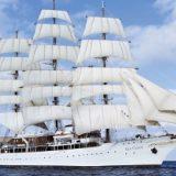 Rekord: Bei einer Atlantiküberquerung hat die Sea Cloud Cruises ca. 2.300 Seemeilen (ca. 4.260 Kilometer) nur unter Segeln zurückgelegt.