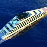 Die neue Superyacht Emerald Azzurra nimmt Form an: Trotz Verzögerungen bei Materiallieferungen ist der für 2021 geplante Stapellauf nicht gefährdet.