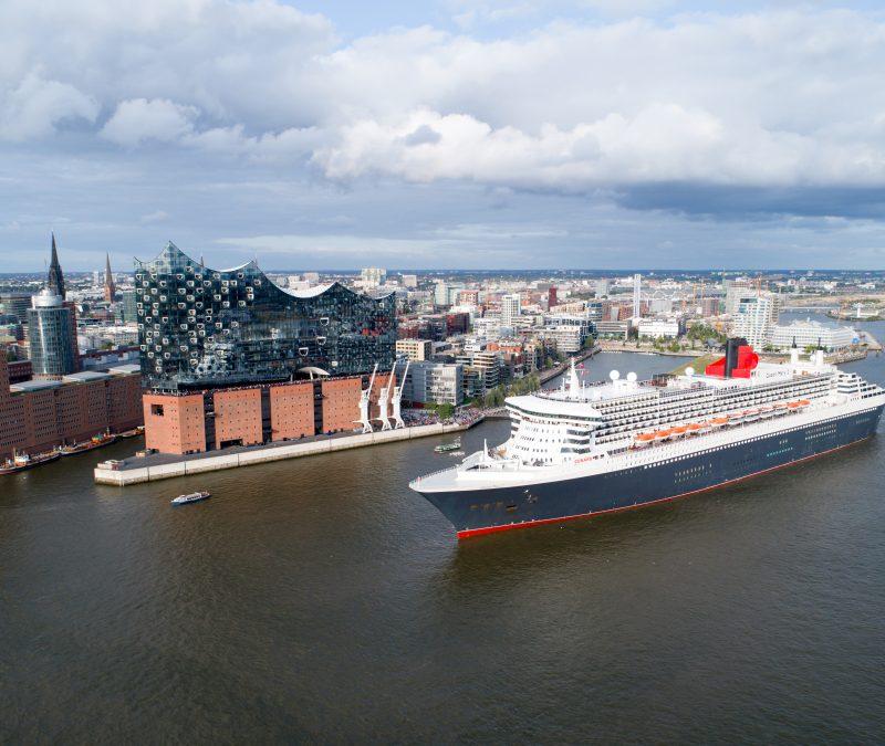 Cunard Line mit den drei Queens Queen Mary 2, Queen Elizabeth und Queen Victoria unterstützt die in Hamburg stattfindenden European Open.