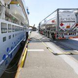 Durch die Nutzung von LNG konnte der CO2-Ausstoß pro Person und Tag an Bord von AIDAnova in 2019 um rund 55 Prozent gesenkt werden