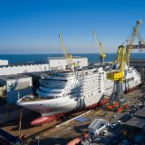 Das neue Schiff von Silversea Cruises, die Silver Dawn, hatte ihren Float-Out auf der Fincantieri-Werft in Ancona