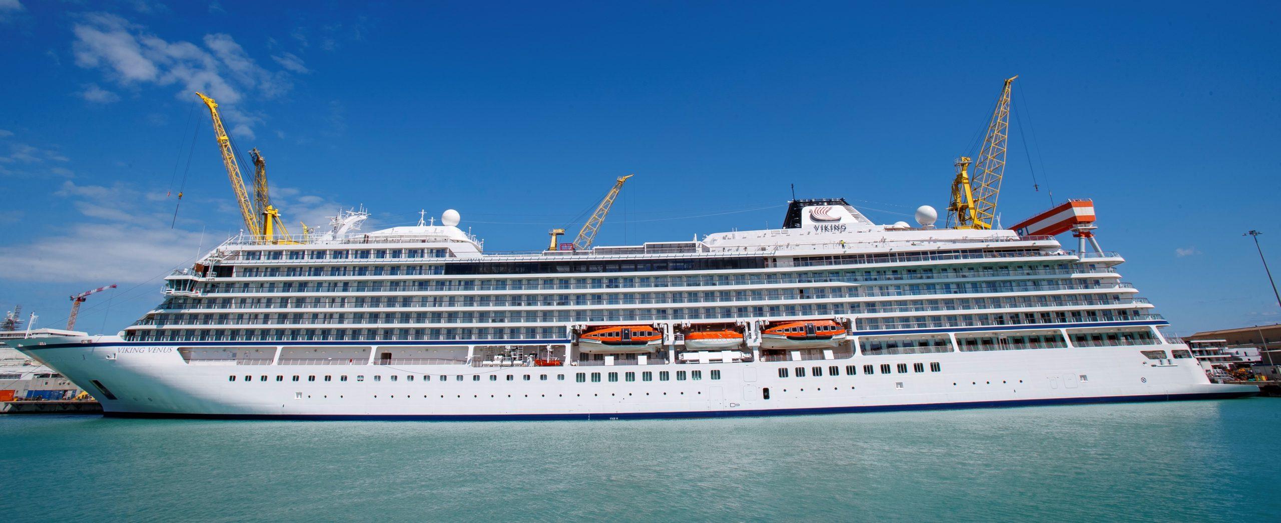 Die Viking Venus mit 47.800 Tonnen und 465 Kabinen für bis zu 930 Passagiere wurde auf der Fincantieri Werft in Ancona ausgeliefert.
