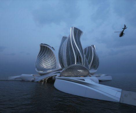 Der 8. Kontinent der slowakischen Architektin Lenka Petrakova, ist eine Anlage um der Verschmutzung der Meere durch Plastik entgegenzutreten.