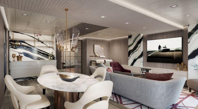 Sich vom ersten Moment an zuhause fühlen soll sich der Gast auf der neuen Oceania Vista (ab 2023) für 1.200 Gäste sowie 800 Crewmitglieder