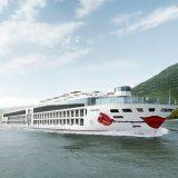 A-ROSA SENA heißt umweltfreundliche Neubau der A-ROSA Flotte, der ab Mai 2022 auf dem Rhein ab Köln unterwegs sein wird.