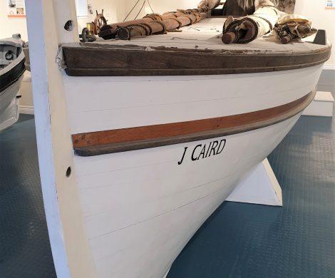 Das restaurierte Beiboot ist im Museum von Grytviken ausgestellt