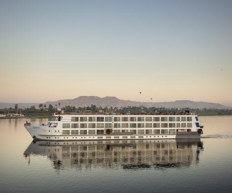 Uniworld Boutique River Cruises Collection stellt das neueste Superschiff S.S. Sphinx auf dem Nil in Ägypten vor.